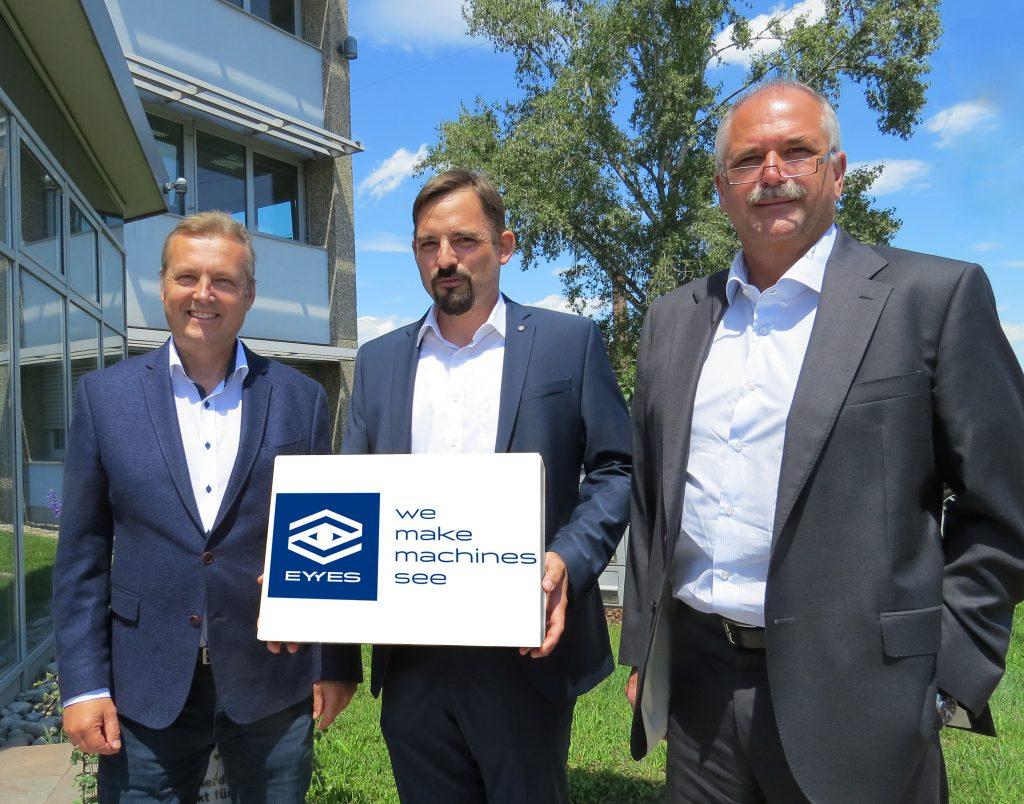 Die drei Geschäftsführer der EYYES GmbH Dr.Wolfgang Domann, Dipl-Ing. Johannes Traxler und Dipl.Ing. Robert Pangerl